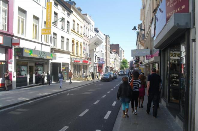 Une vue de la chaussée de Wavre, Porte de Namur
