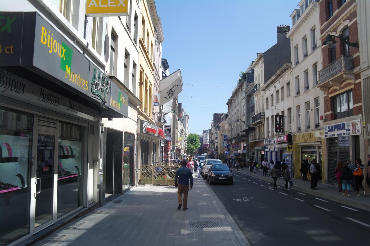 Une autre vue de la chaussée de Wavre, Porte de Namur