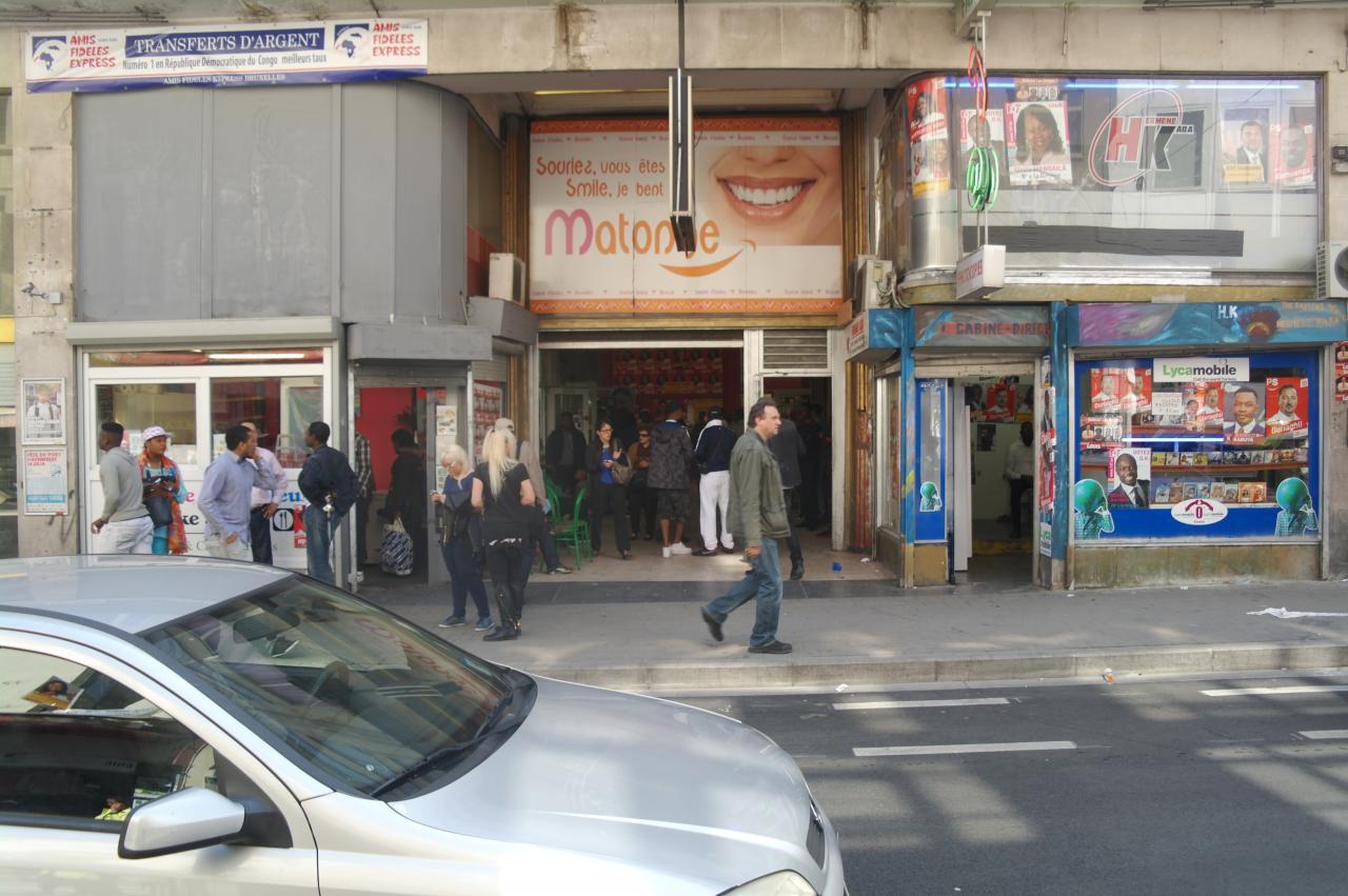 L'entrée des galeries de la Porte de Namur